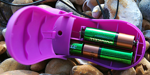 Annabelle Knight Yes! Powerful Vibrating Love Egg - battery compartment open