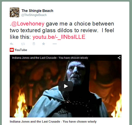 @TheShingleBeach on Twitter: You have chosen wisely