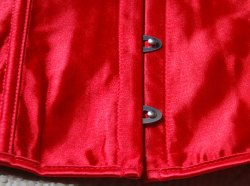 Red corset detail